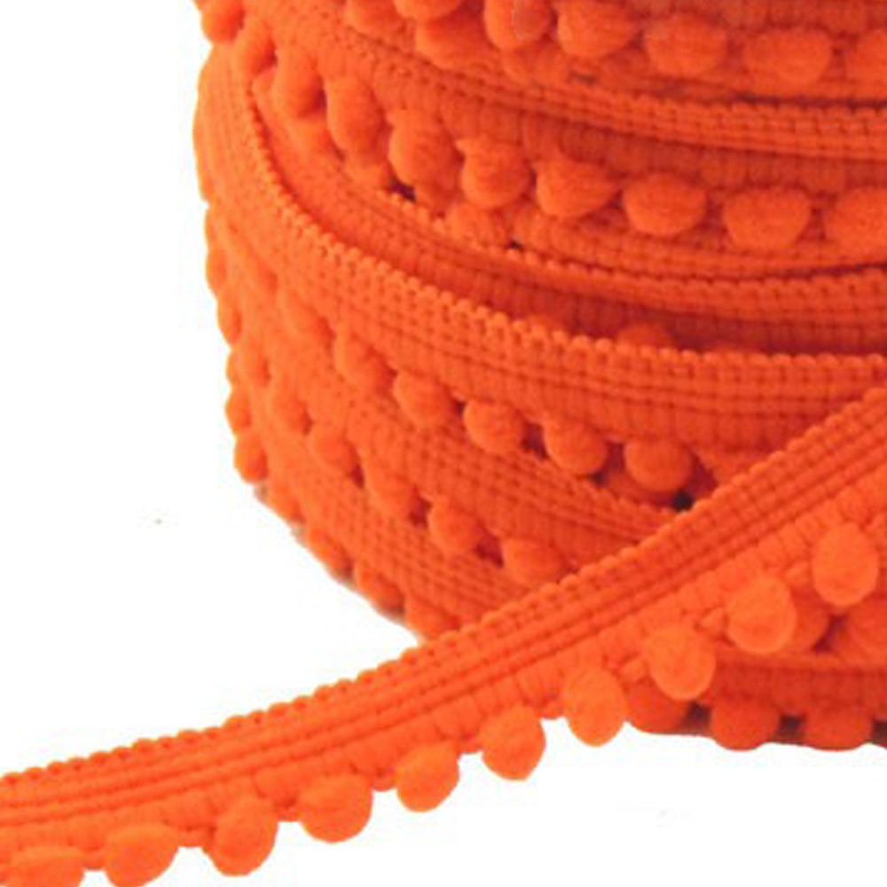 Merceria borlas pequeñas 1 2 CM naranja