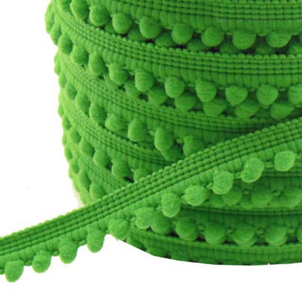 Merceria borlas pequeñas 1 2 CM verde andalucía