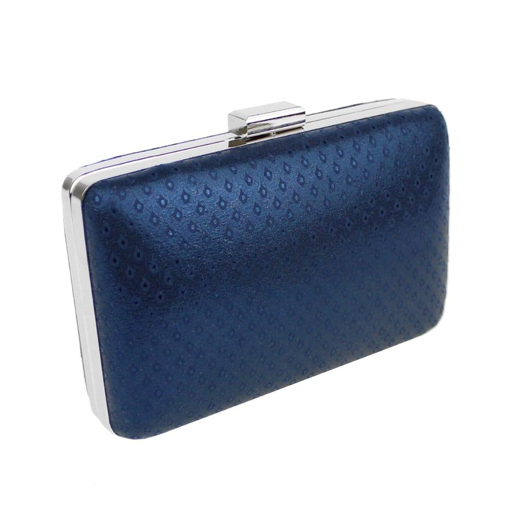 Mini Clutch azul y plata