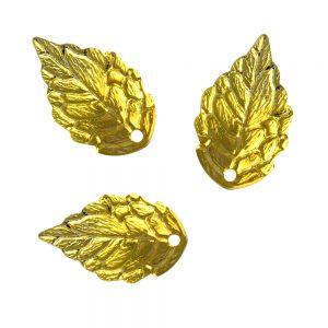 Mini hoja de latón (3UD) oro