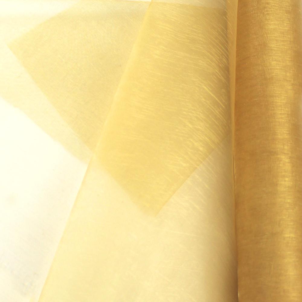 Organza mate lisa 48 cm dorado