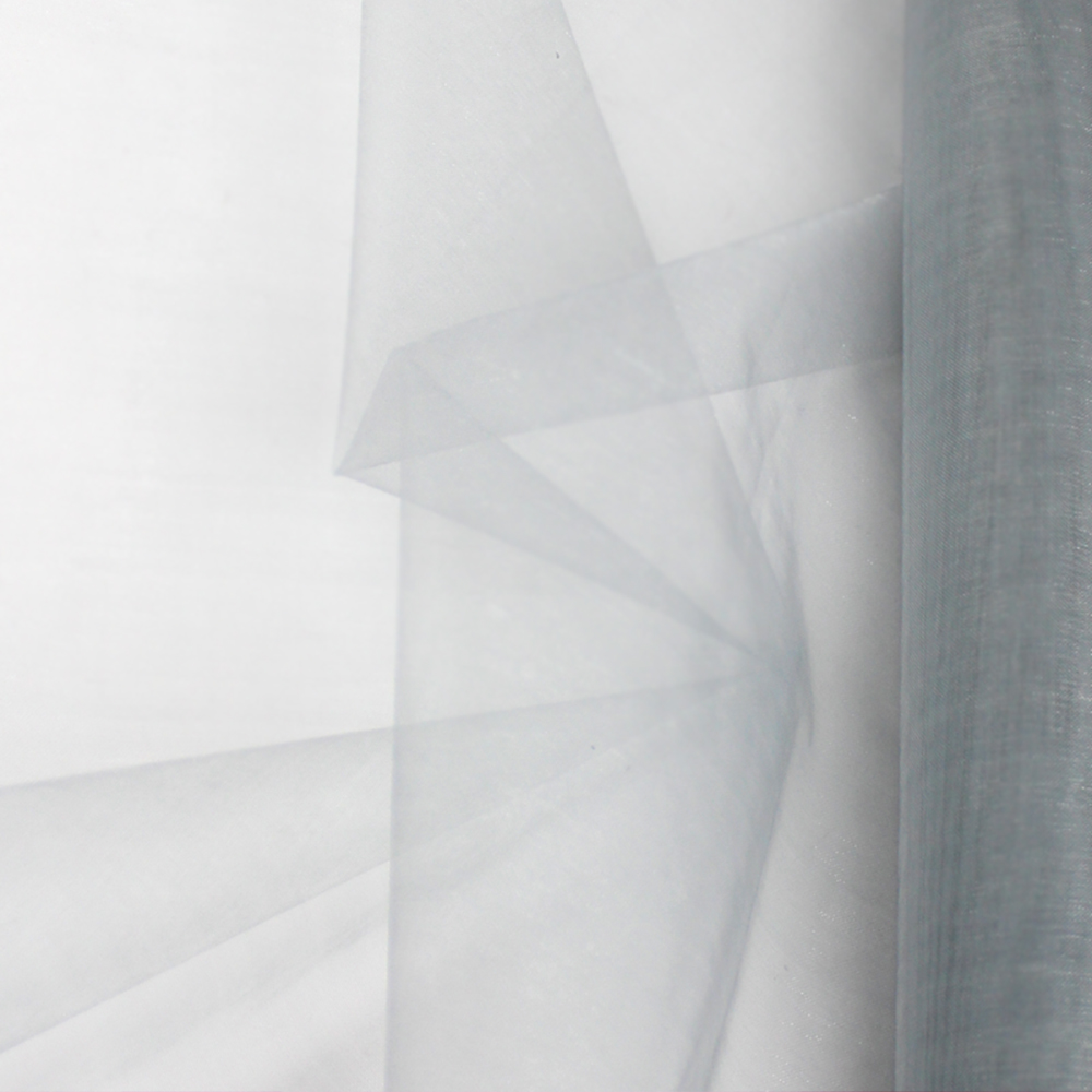 Organza mate lisa 48 cm gris