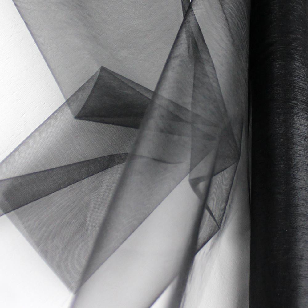 Organza mate lisa 48 cm negro