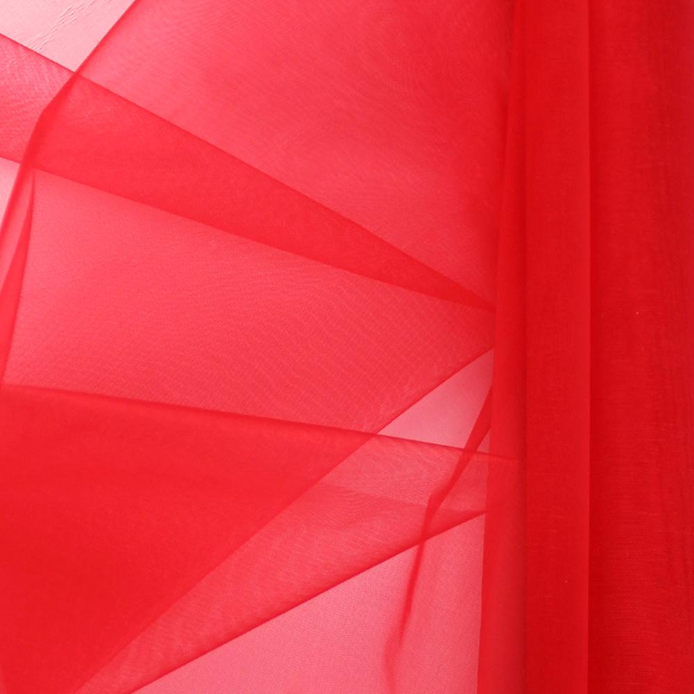 Organza mate lisa 48 cm rojo