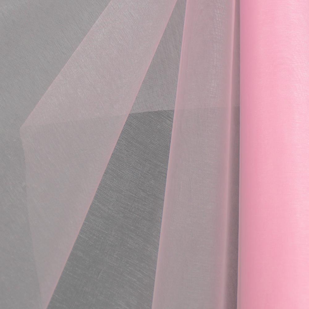 Organza mate lisa 48 cm rosa medio