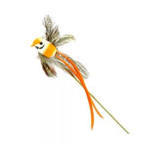 Pájaro de plumas naranja