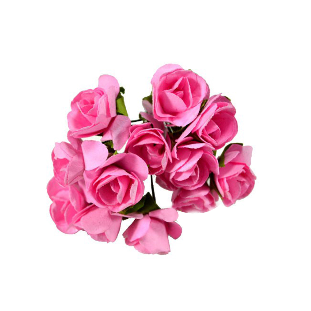 Pack 3 Ramillete mini rosas fucsia