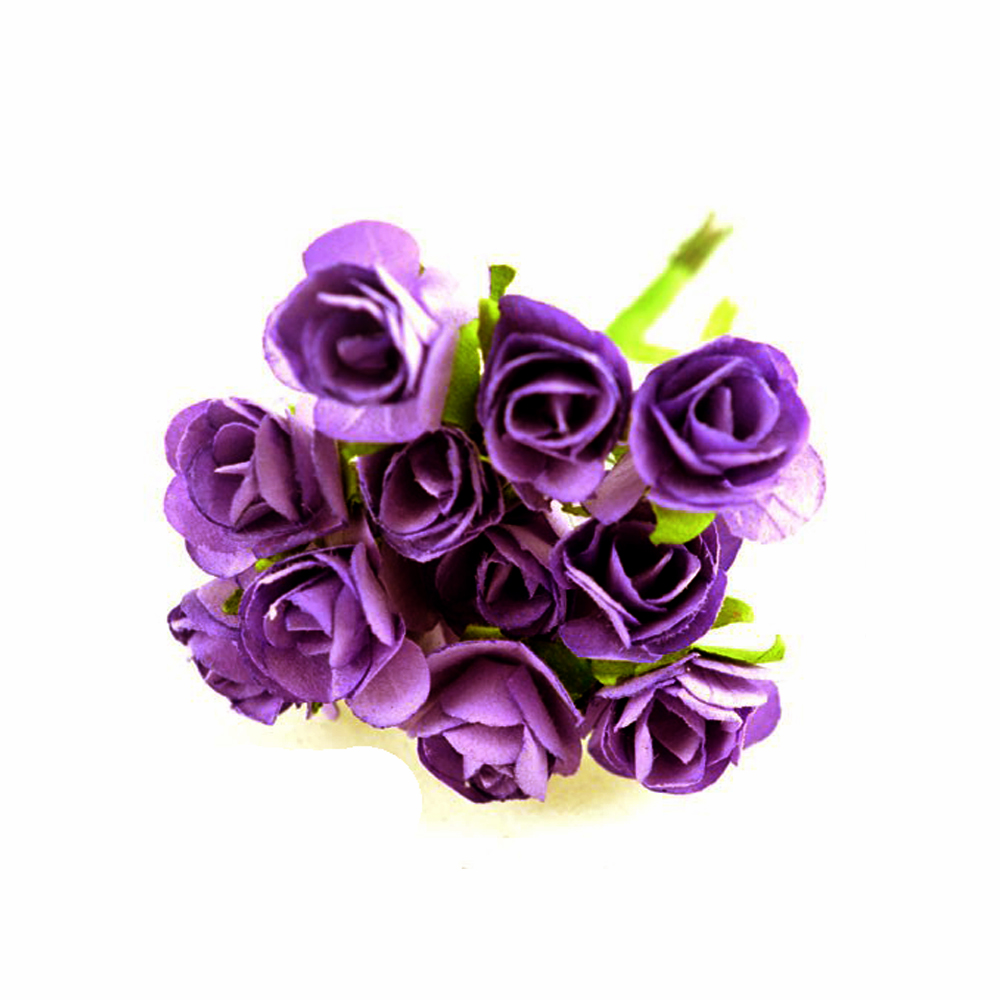 Pack 3 Ramillete mini rosas morado