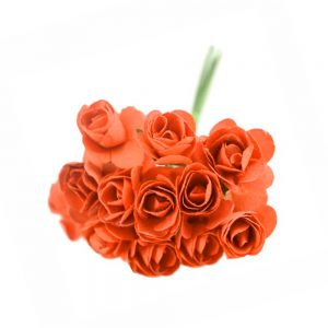 Pack 3 Ramillete mini rosas naranja
