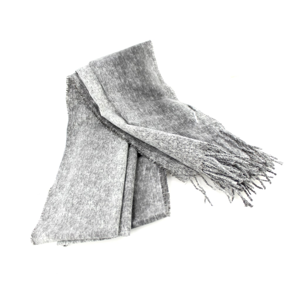 Pashmina lana rayón gris