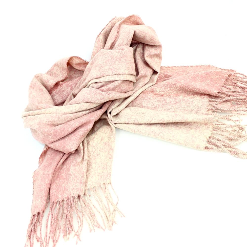 Pashmina lana rayón rosa