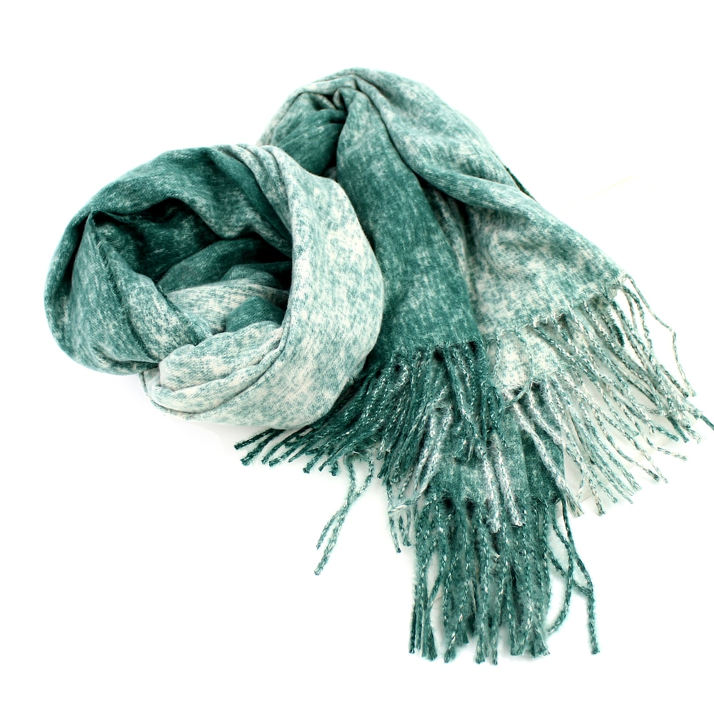 Pashmina lana rayón verde