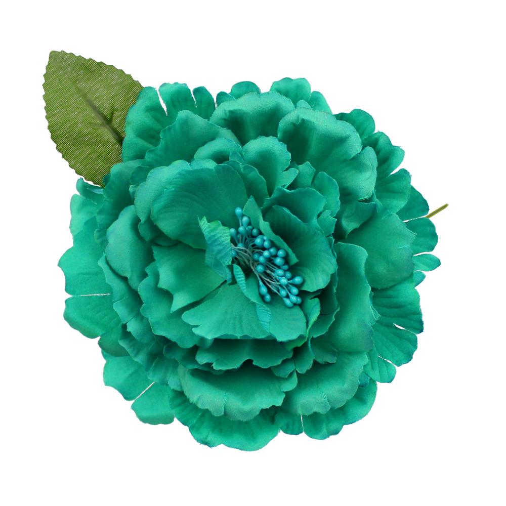 Peonía de tela jade