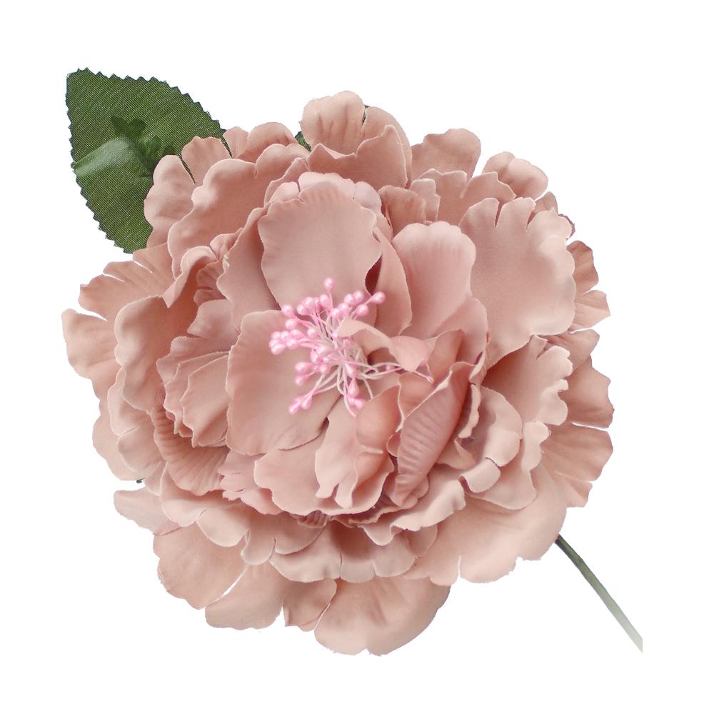 Peonía de tela rosa nude