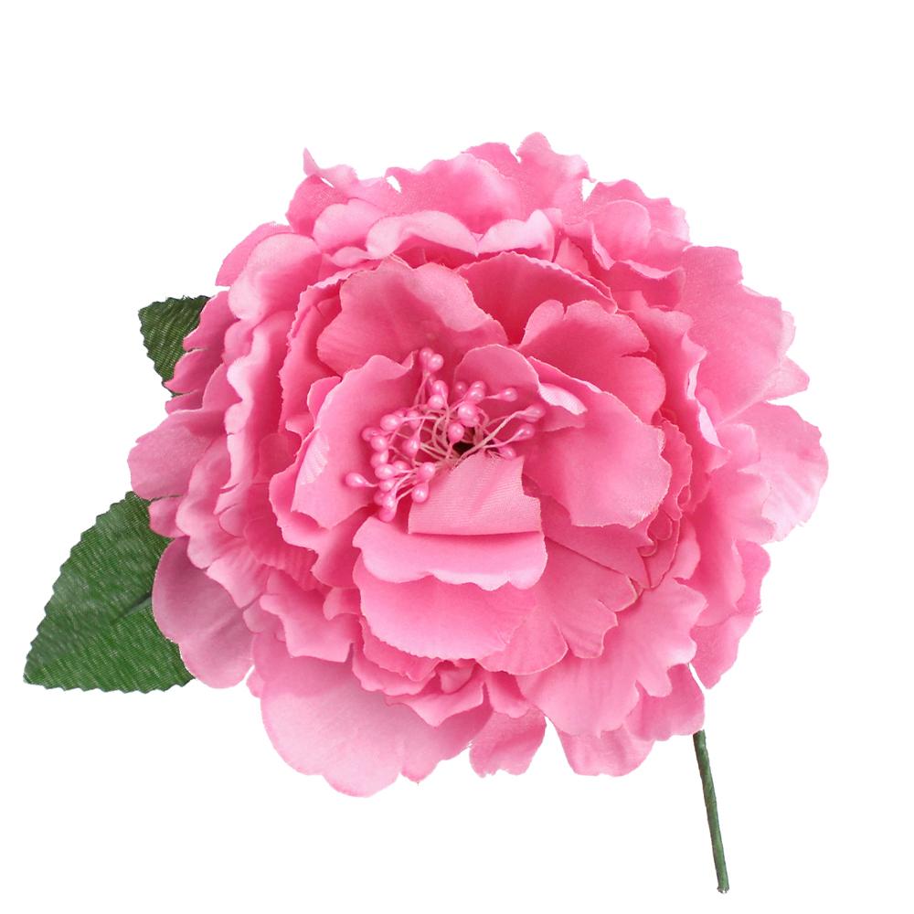 Peonía de tela rosa