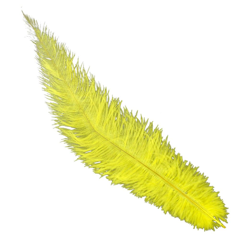 Pluma Avestruz 35 amarillo
