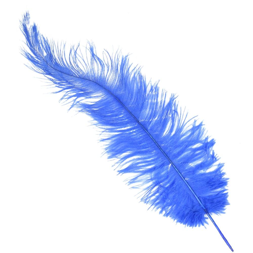 Pluma Avestruz 35 azul klein