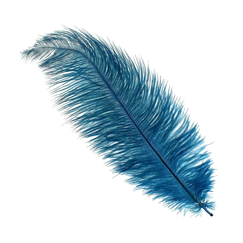 Pluma Avestruz 35 azul petróleo