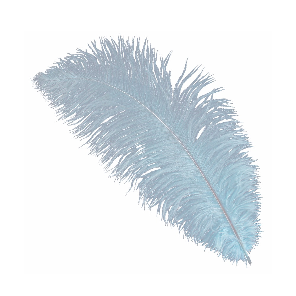Pluma Avestruz 35 celeste claro
