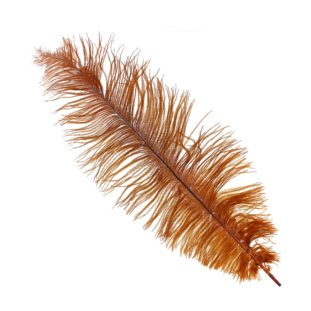 Pluma Avestruz 35 cobre