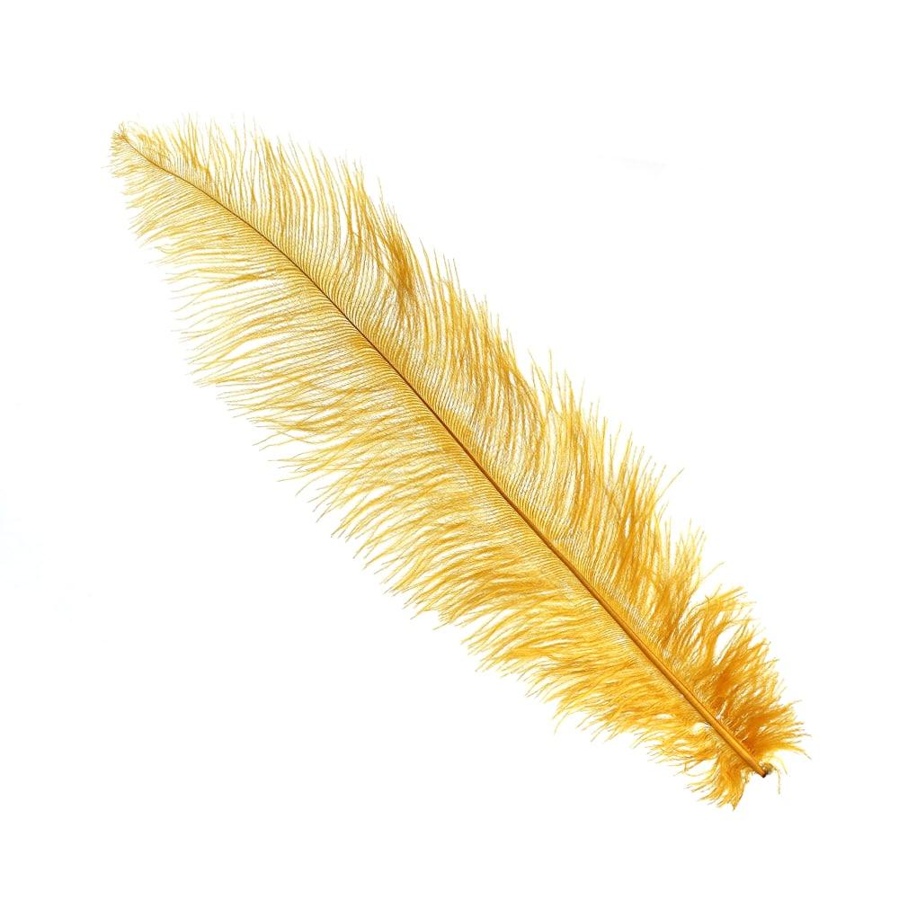 Pluma Avestruz 35 mostaza