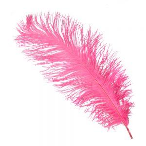 Pluma Avestruz 35 rosa maquillaje
