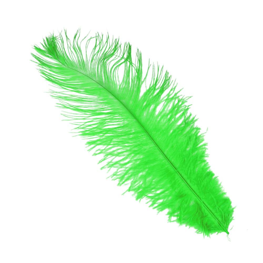 Pluma Avestruz 35 verde jungla