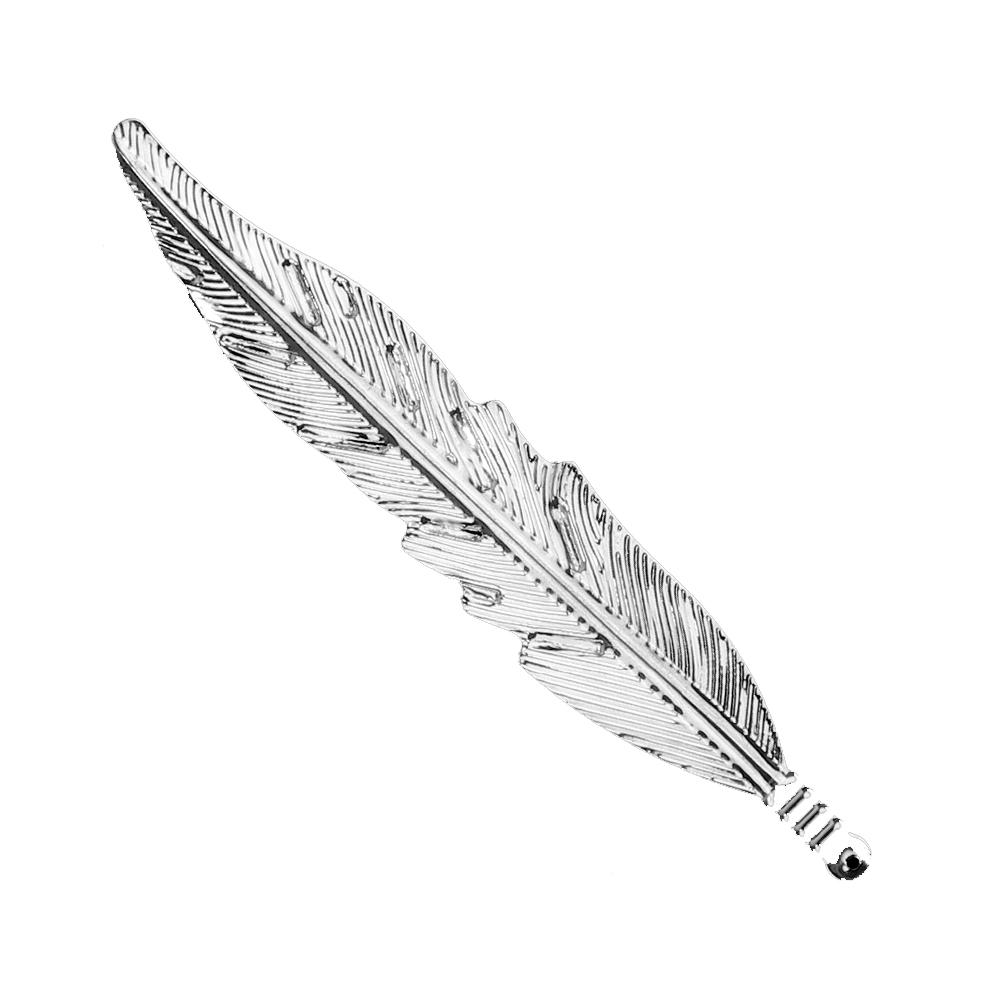 Pluma de latón 11×2 cm plata