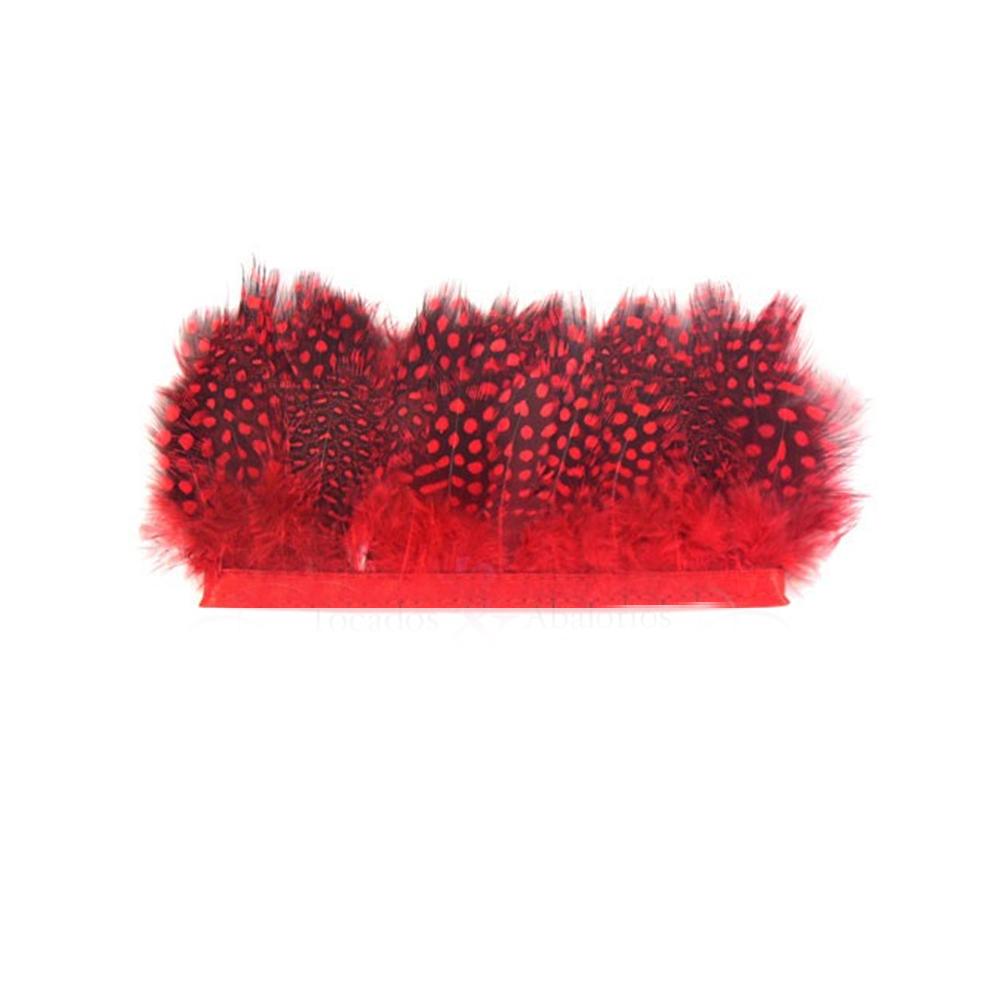 Plumas Fleco Guinea rojo