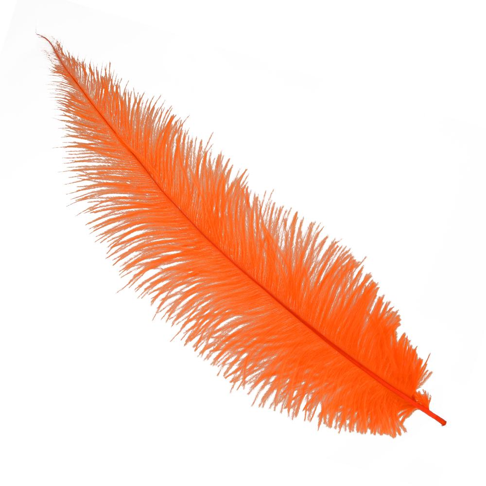Plumas avestruz 40 50 cm naranja