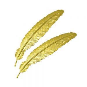 Plumas de latón 2 ud oro