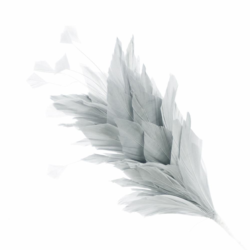 Pomo de plumas Afrodita 20 cm GRIS