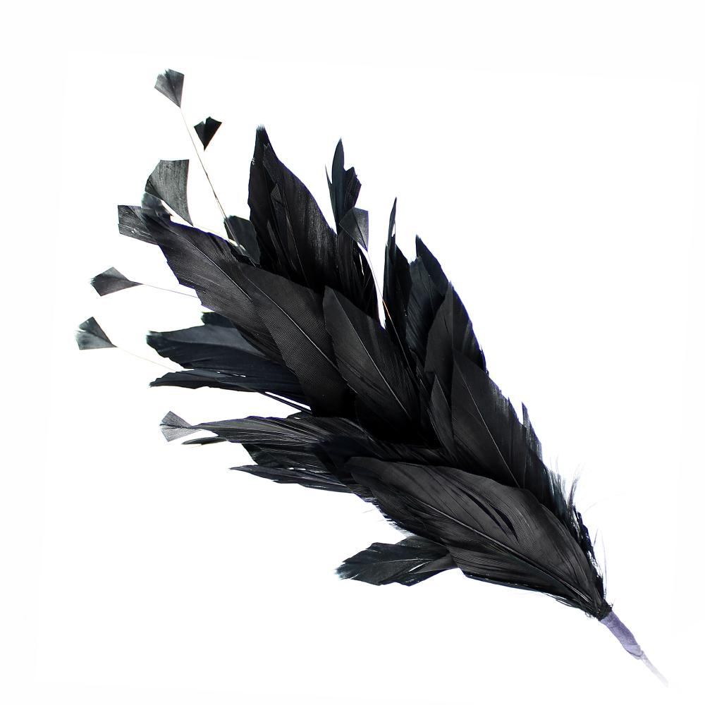 Pomo de plumas Afrodita 20 cm NEGRO