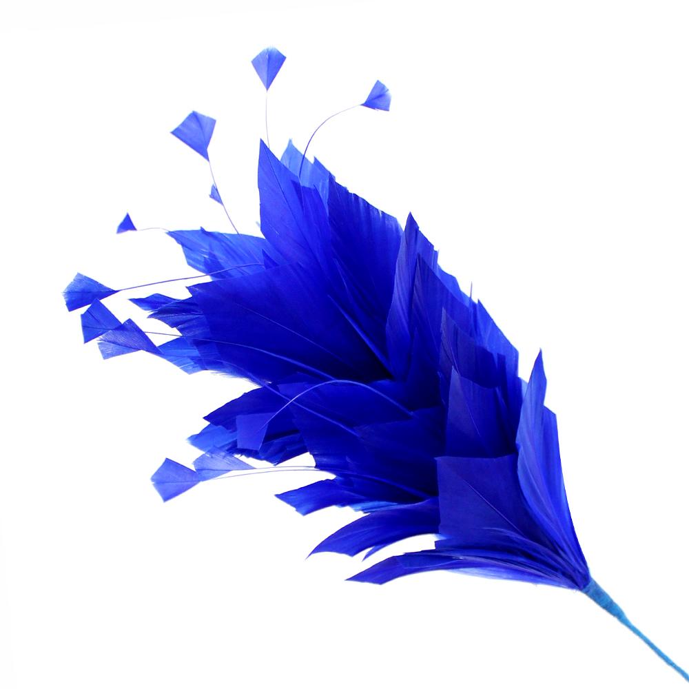 Pomo de plumas Afrodita 20 cm azul klein