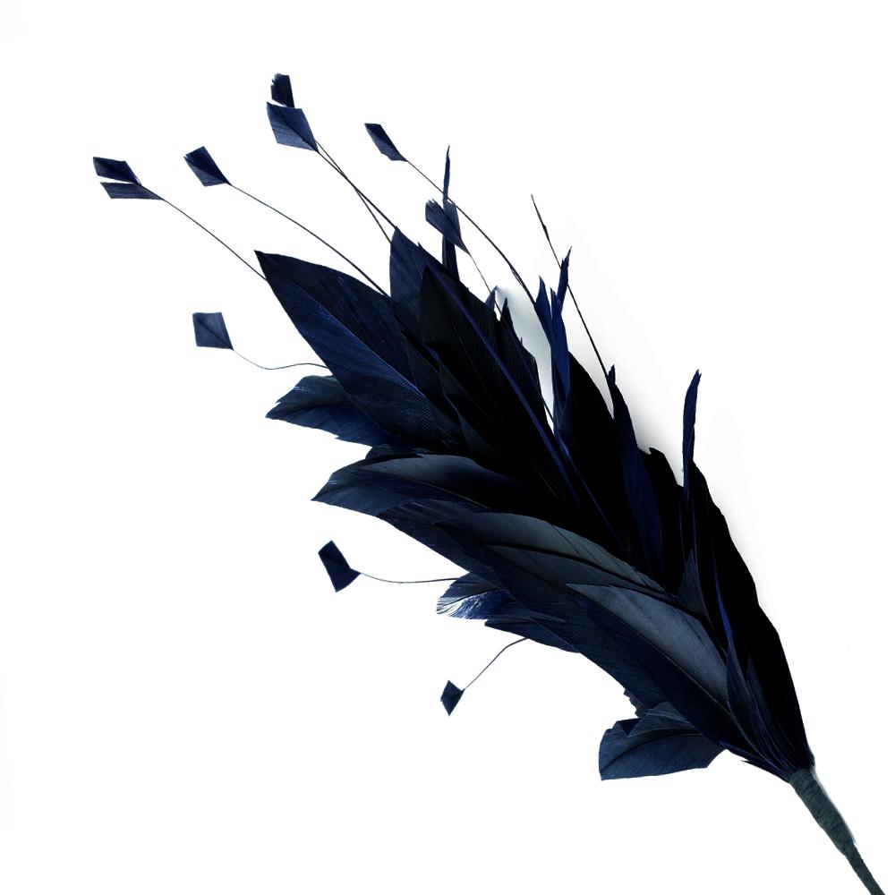Pomo de plumas Afrodita 20 cm azul marino