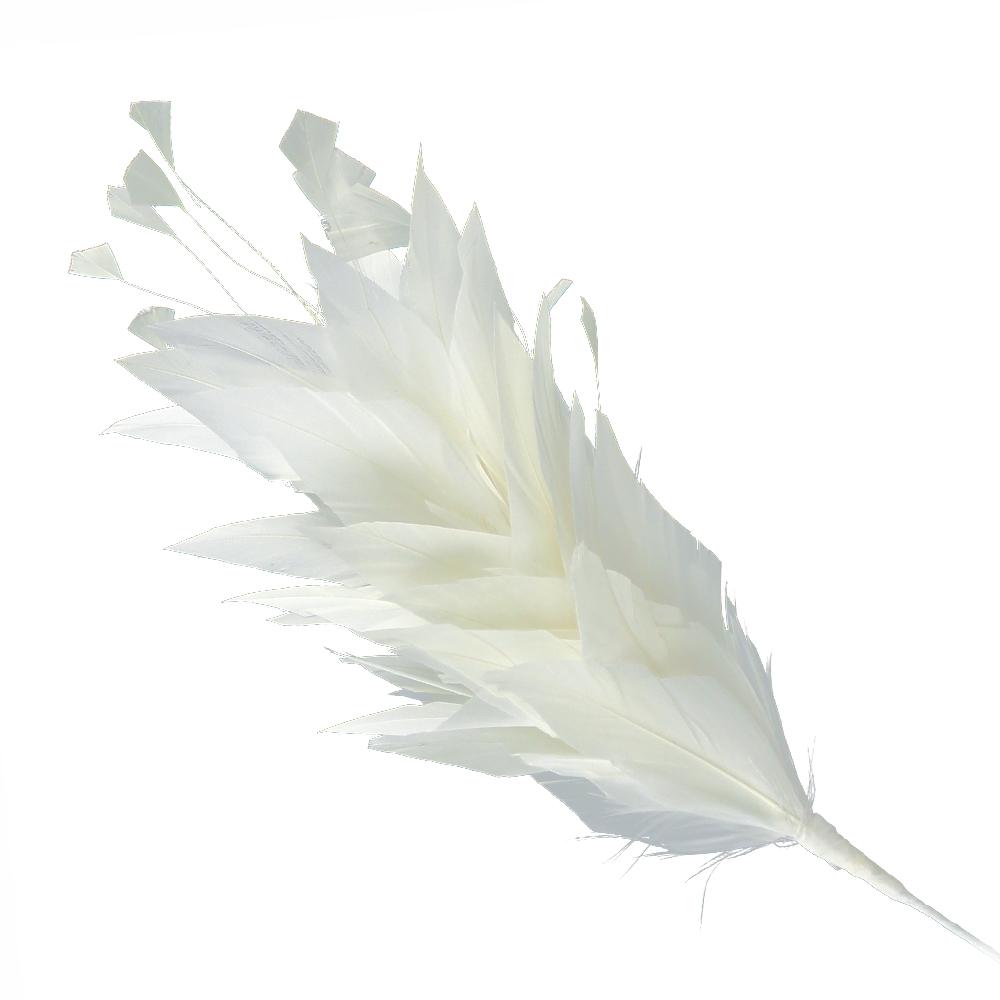 Pomo de plumas Afrodita 20 cm crudo