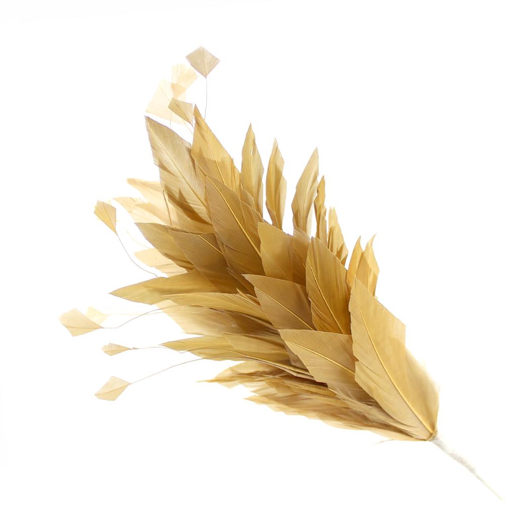 Pomo de plumas Afrodita 20 cm dorado