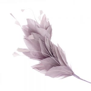 Pomo de plumas Afrodita 20 cm malva empolvado
