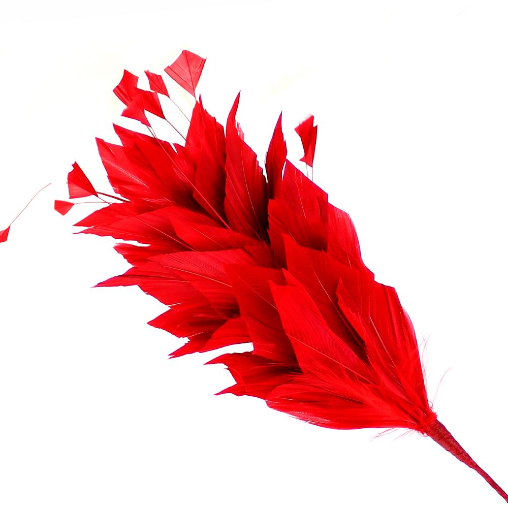 Pomo de plumas Afrodita 20 cm rojo