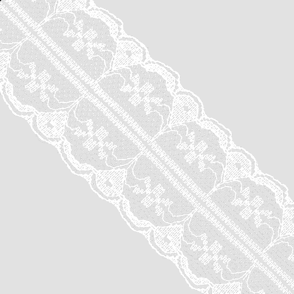 Puntilla de nylon 3 5 CM blanco