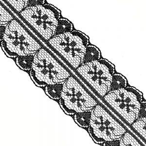 Puntilla de nylon 3 5 CM negro