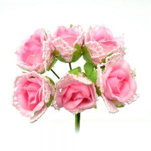 RAMILLETE KEIRA BOLILLO rosa