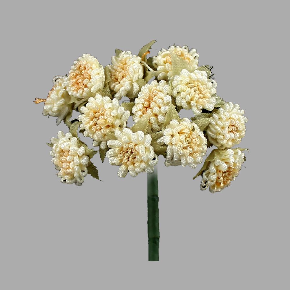Racimo de florecillas 5cm beige