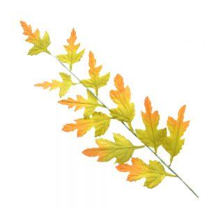 Rama de hojas verdes y secas 29 CM marrón y verde