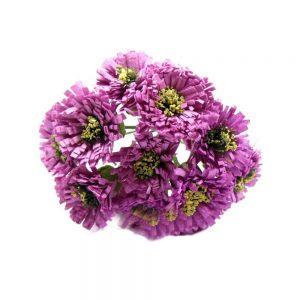Ramillete 12 flores margarita 10×7 cm malva