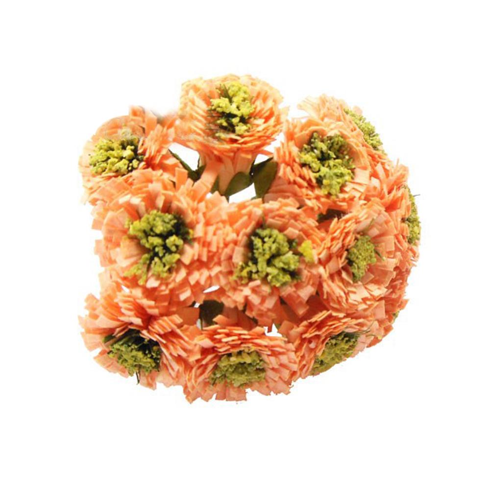 Ramillete 12 flores margarita 10×7 cm salmón