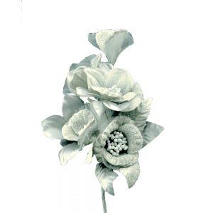 Ramillete Fantasía 15×12 cm gris