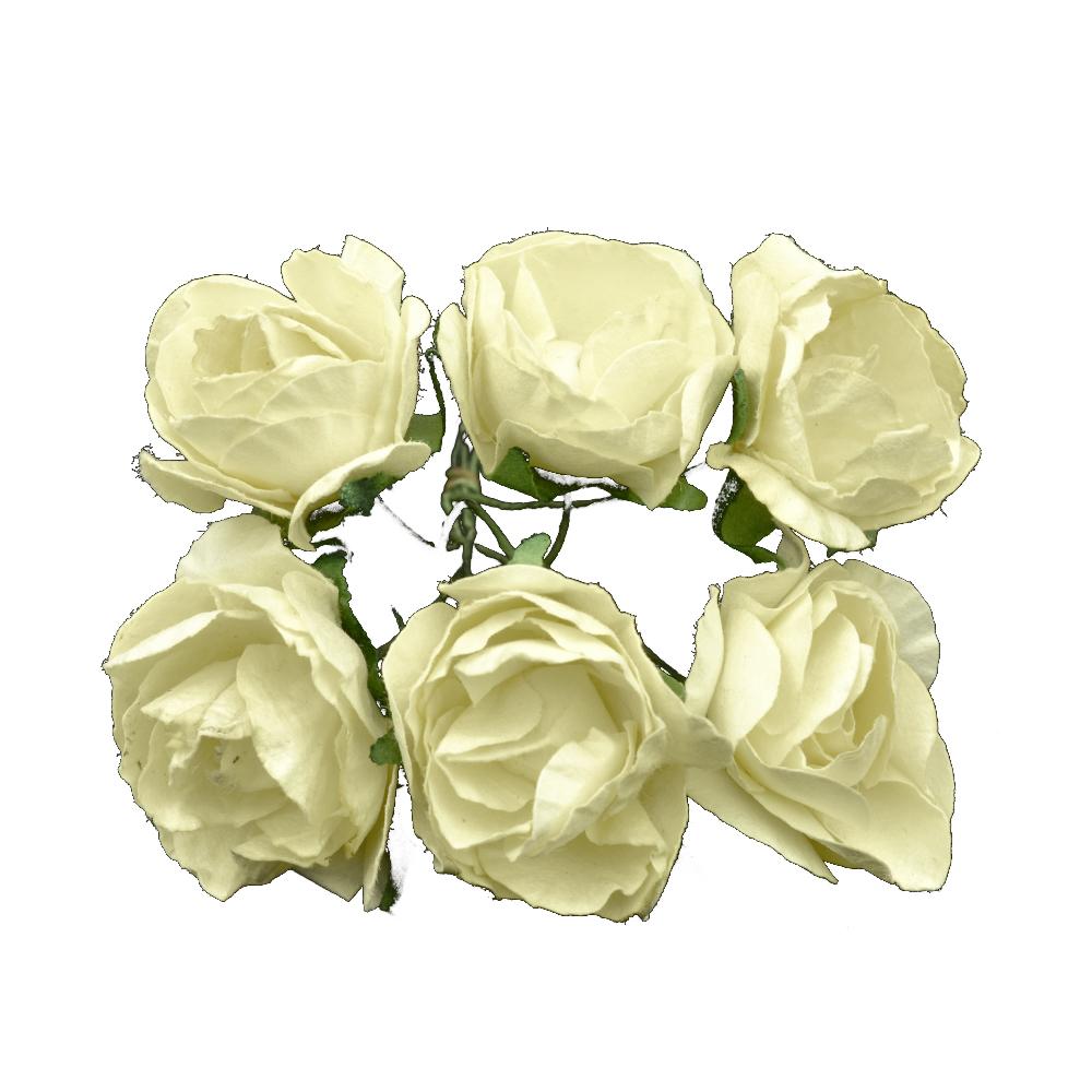 Ramillete Rosas de papel mimosa