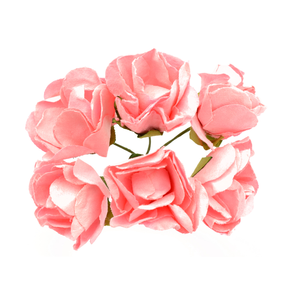 Ramillete Rosas de papel rosa