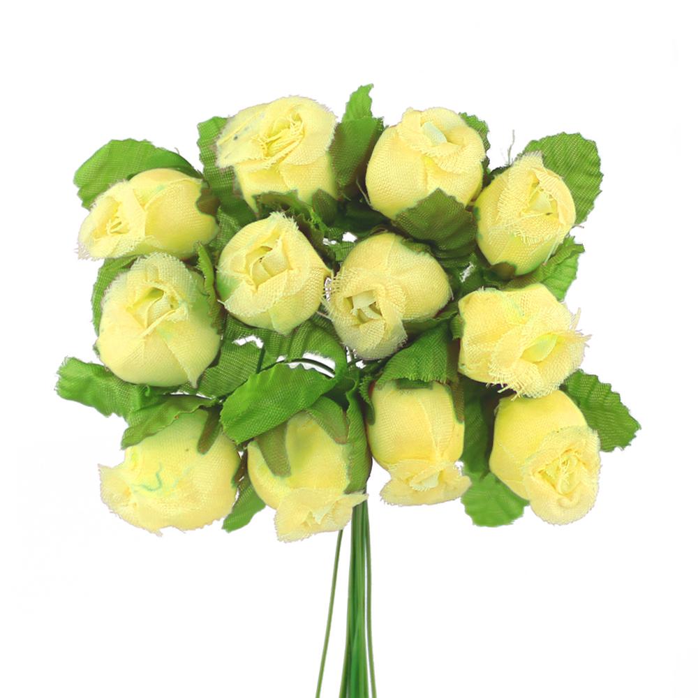 Ramillete capullos de rosas amarillo